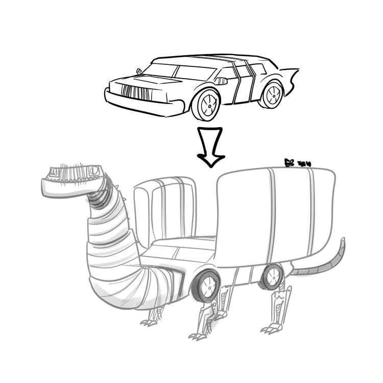 75/365 – Dragon Car. Sketch   awesome shstart